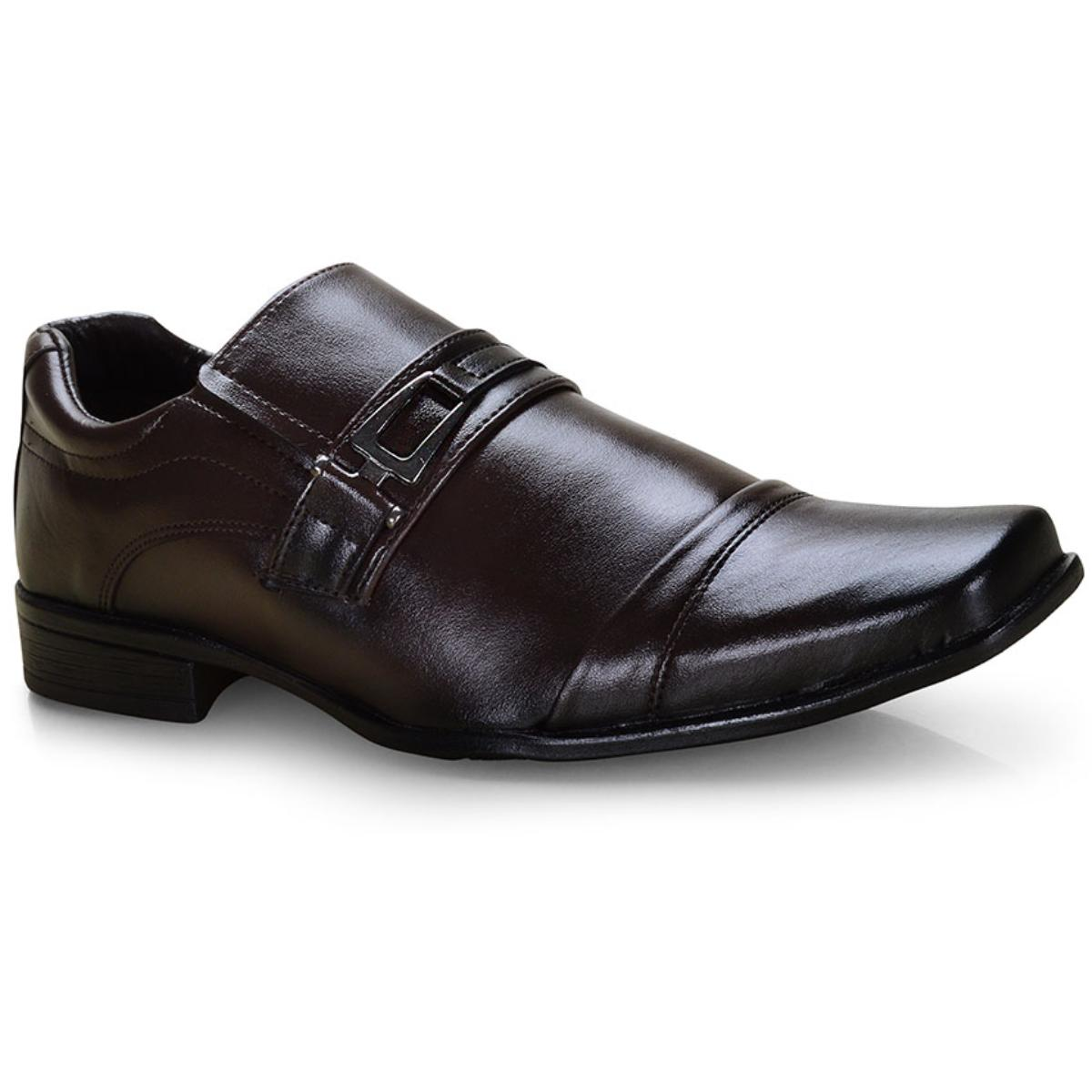 Sapato Masculino Ped Shoes 50910-b Café Kit c/ Carteira e Cinto