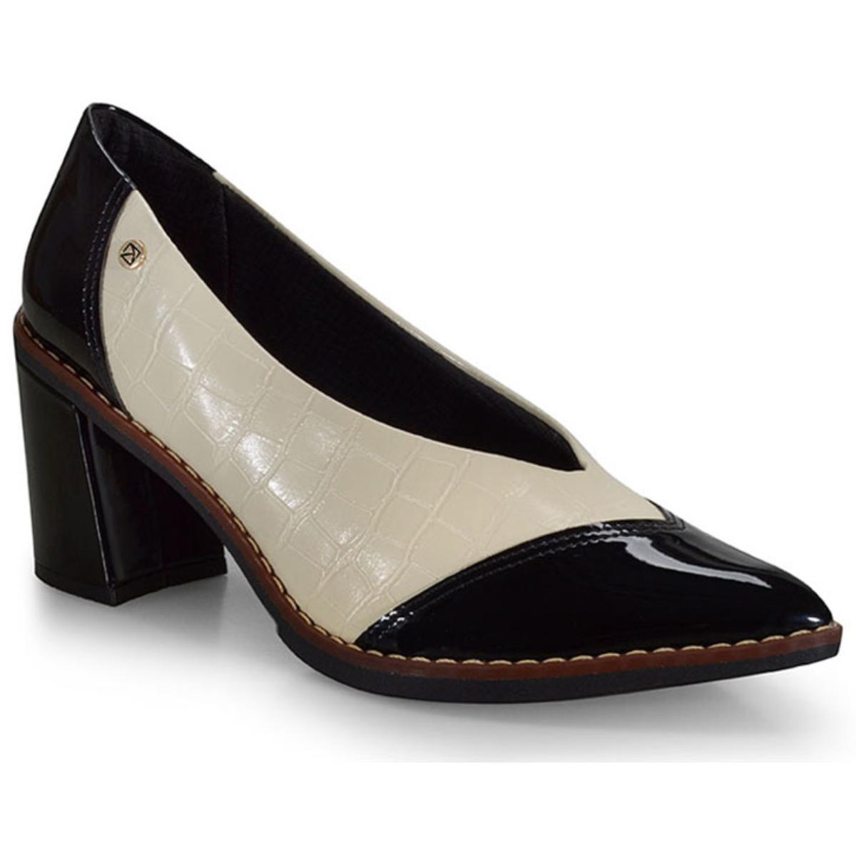 Sapato Feminino Piccadilly 752008 Preto/creme