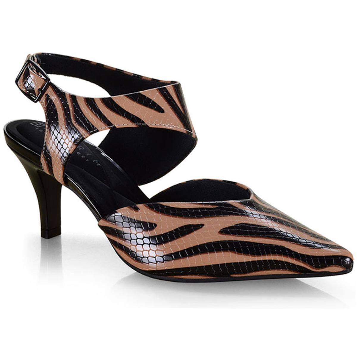 Sapato Feminino Ramarim 19-86203 Zebra Natural