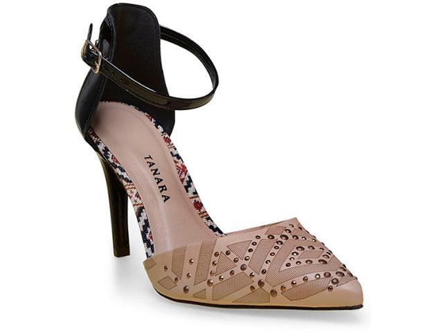 Sapato Feminino Tanara 0188 Nude/preto