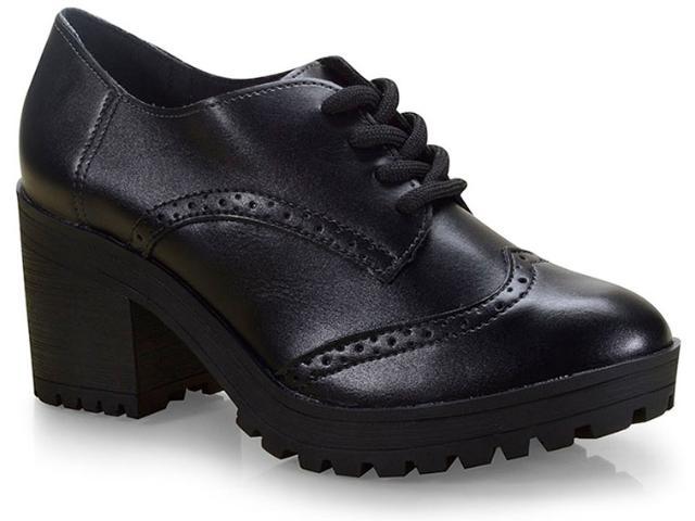 Sapato Feminino Via Marte 19-6507 Preto