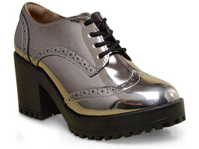 Sapato Feminino Via Marte 17-6499 Prata Velho