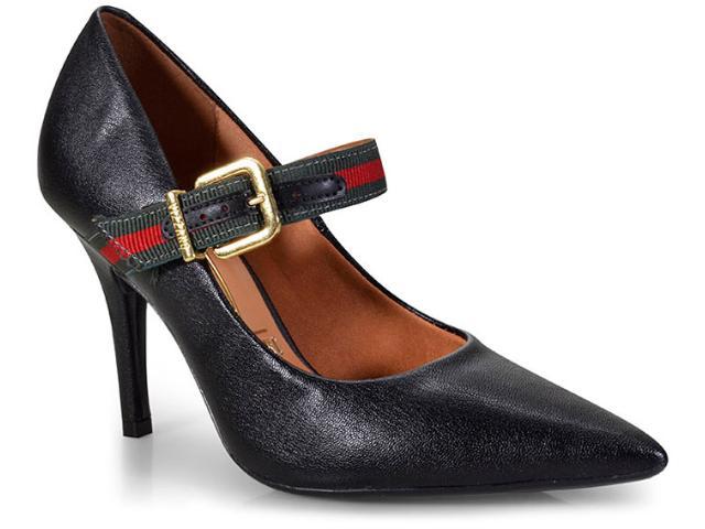 Sapato Feminino Vizzano 1184175 Preto/verde Escuro/vermelho