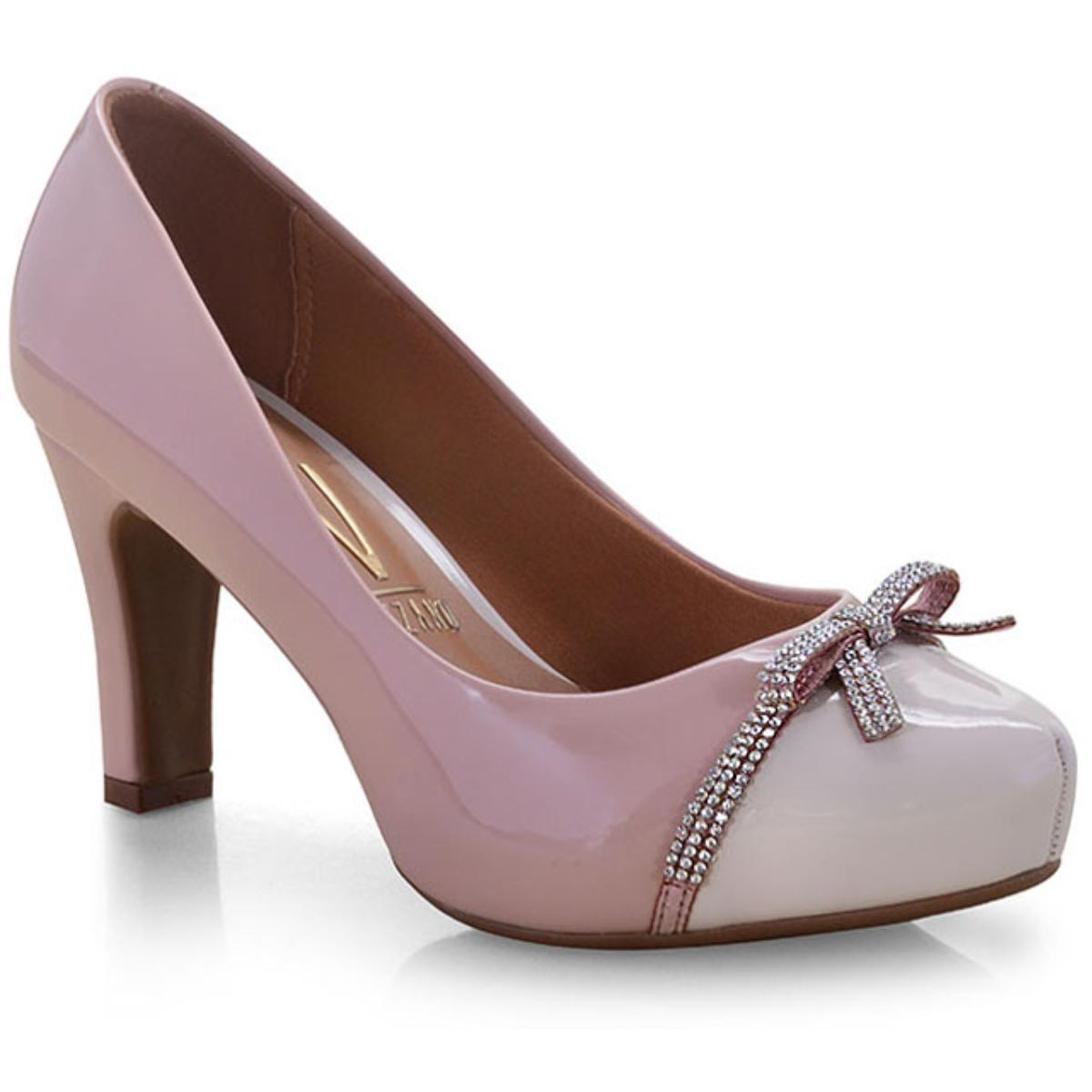 Sapato Feminino Vizzano 1840113/2 Rosa/creme