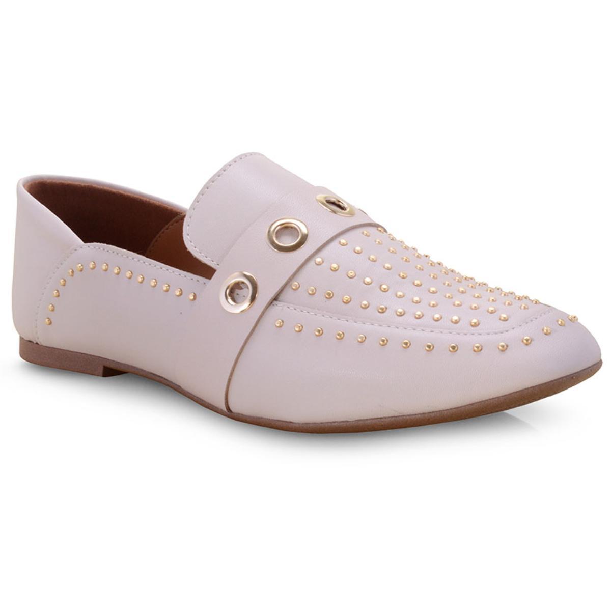 Sapato Feminino Vizzano 1313100 Creme