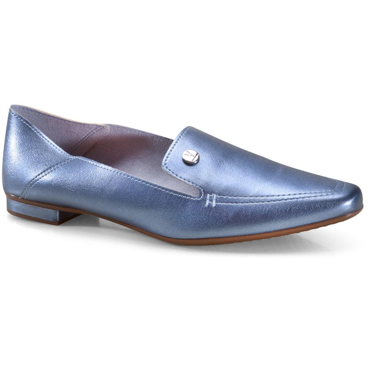 Sapato Feminino Vizzano 1351100 Jeans Metalizado