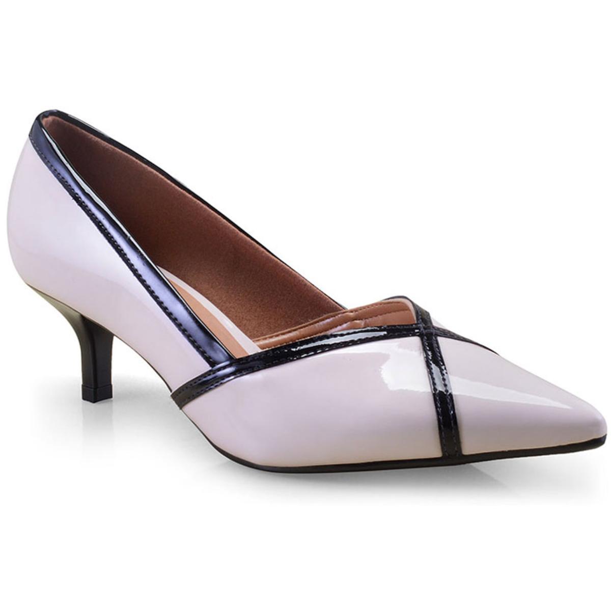Sapato Feminino Vizzano 1122656 Creme/preto