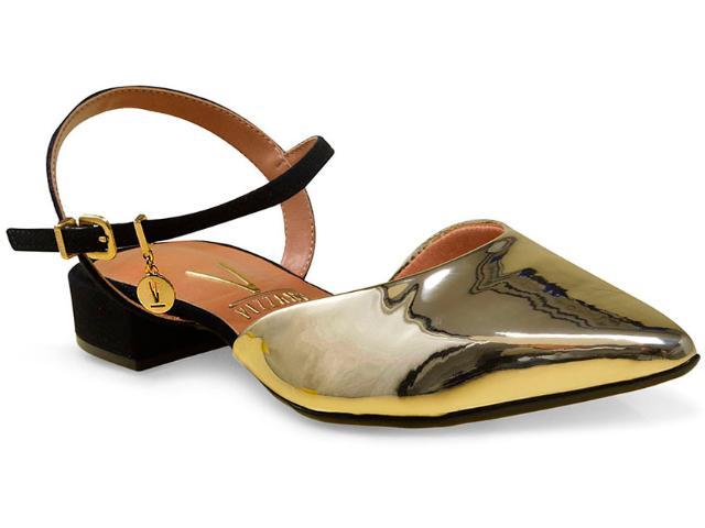 Sapato Feminino Vizzano 1833105 Dourado/preto