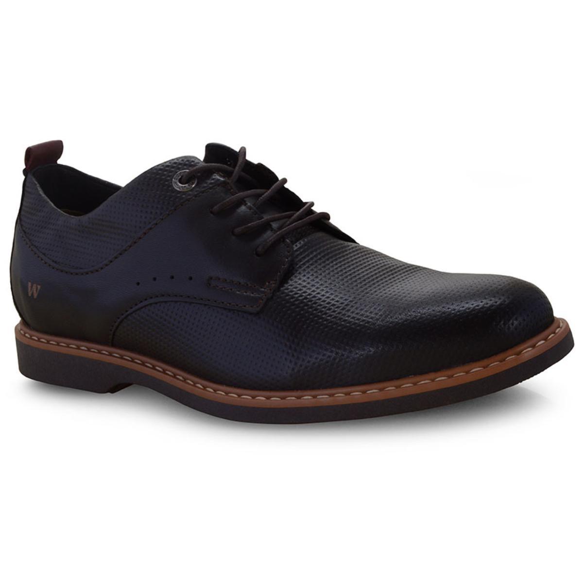 Sapato Masculino West Coast 187201/5 Café/vermelho