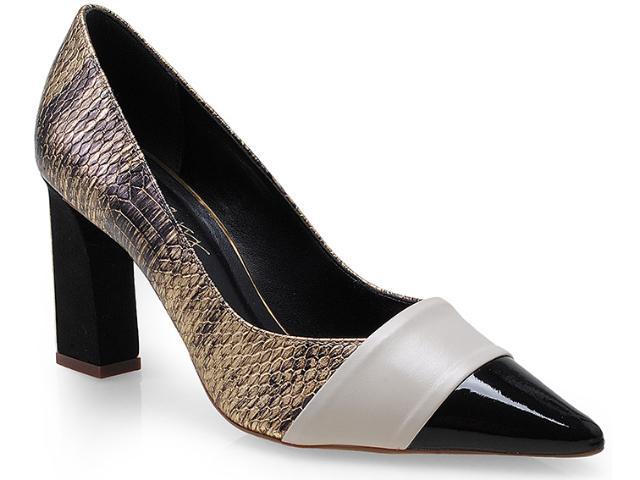 Sapato Feminino Seculo Xxx 99110553 Ouro/aveia/preto