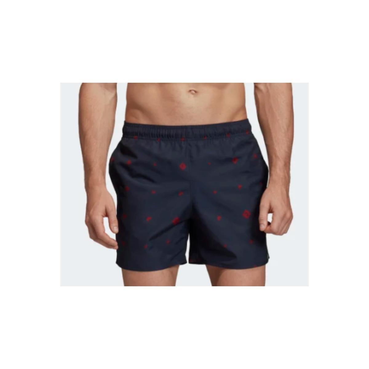 Short Masculino Adidas Dy6395 Aop sl m Marinho Estampado