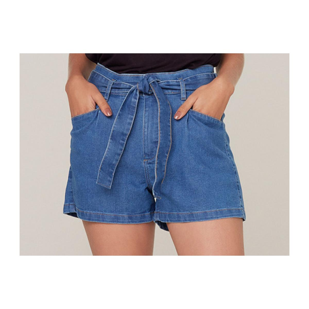 Short Feminino Dzarm Zc4m 1asn Jeans Escuro
