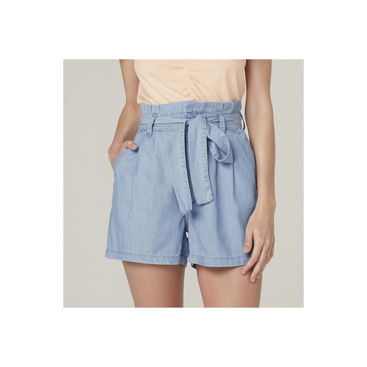 Short Feminino Dzarm Zc4c 1bsn Jeans Claro