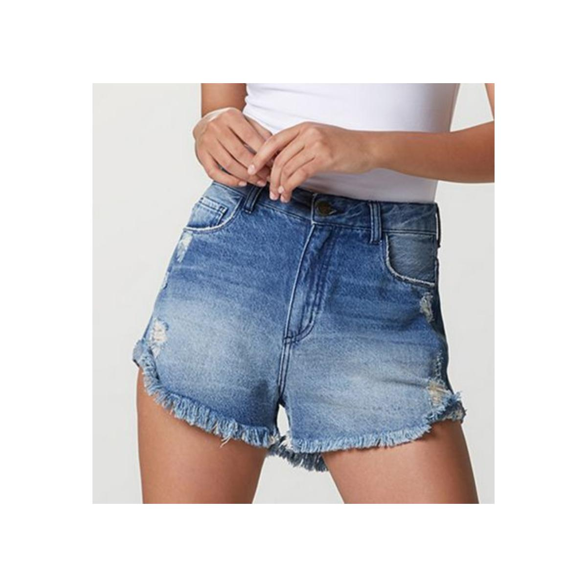 Short Feminino Hering Hb5u 1asn  Jeans