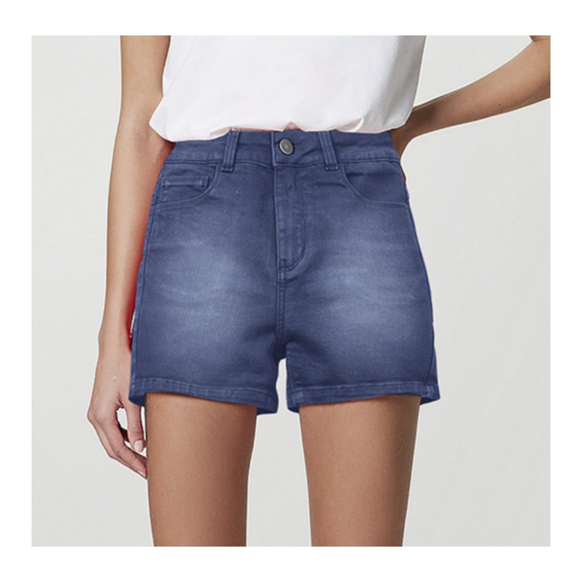 Short Feminino Hering Hb74 1esn  Jeans