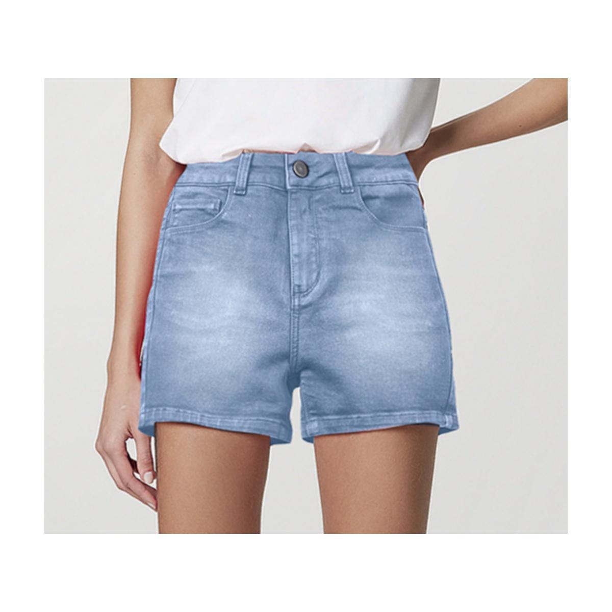 Short Feminino Hering Hb74 1fsn  Jeans Claro