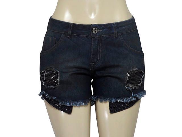 Short Feminino Zinco 201573 Jeans Escuro