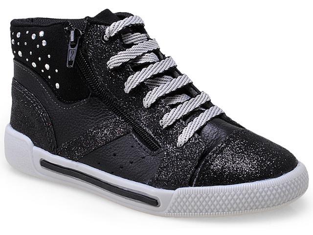Sneaker Fem Infantil Bibi 777033 Preto/gliter