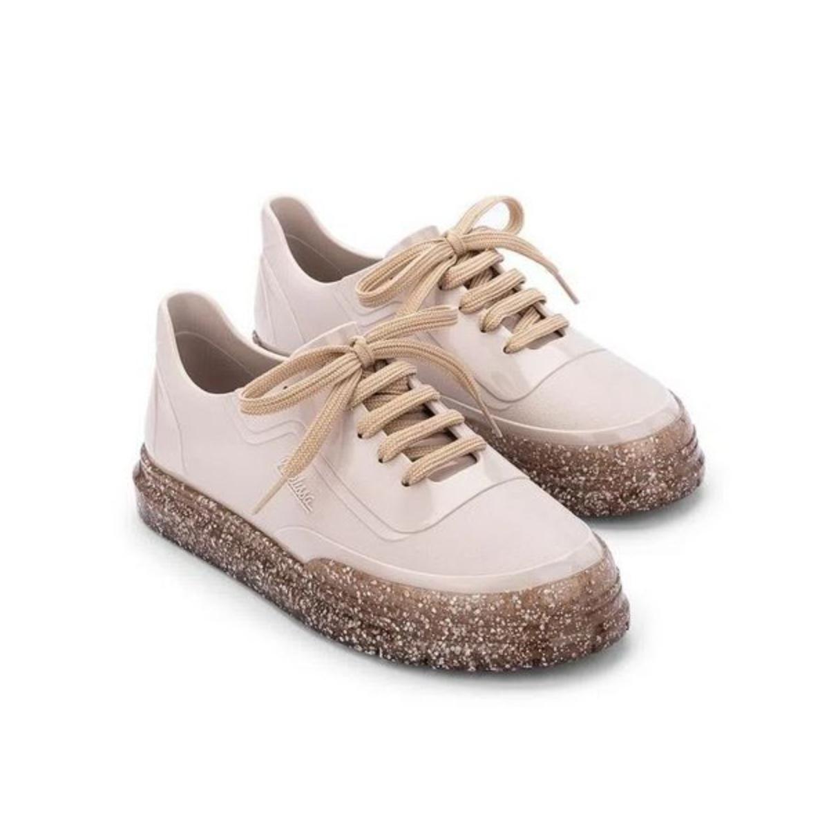 Tênis Feminino Melissa 33306 52326 Classic Sneaker Bege Glitter