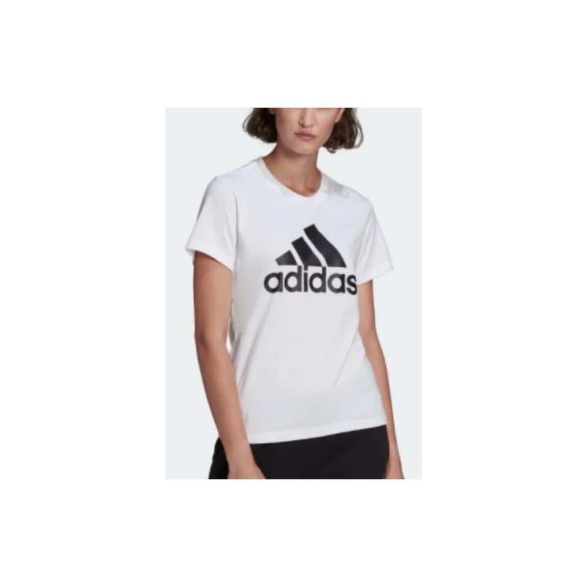T-shirt Feminino Adidas Gl0649 Logo  Branco