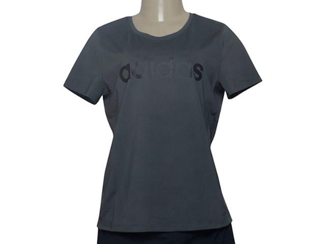 T-shirt Feminino Adidas Du2082 D2m Logo Grafite