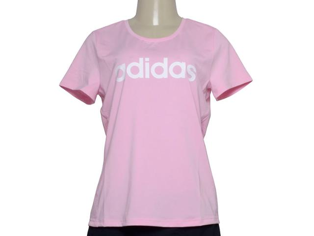 T-shirt Feminino Adidas Du2081d2m Logo Rosa