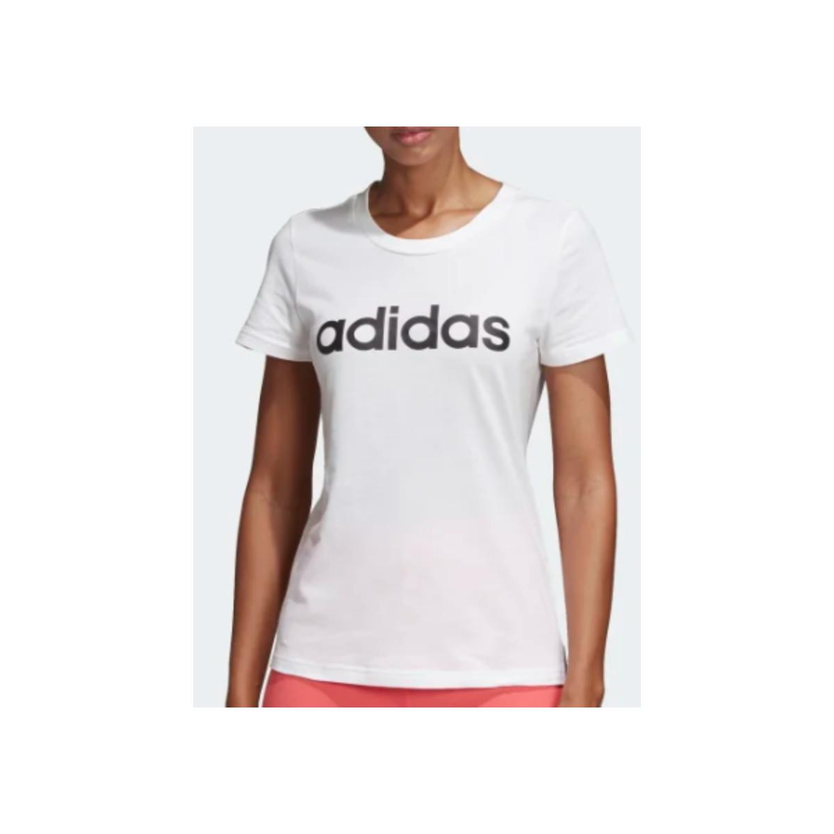 T-shirt Feminino Adidas Du0629 w e Lin Slim t Off White
