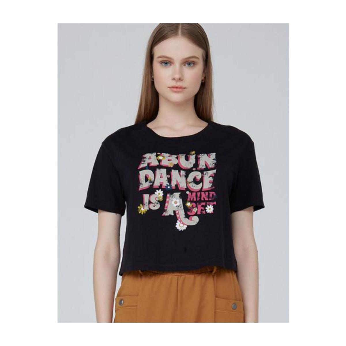 T-shirt Feminino Dzarm 6ryj N10en Preto