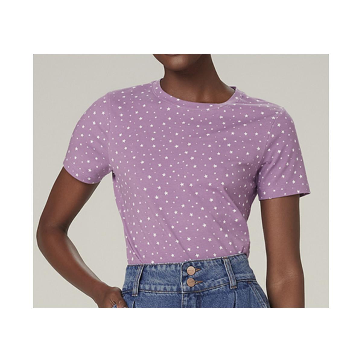 T-shirt Feminino Dzarm 6rz1 11en Roxo