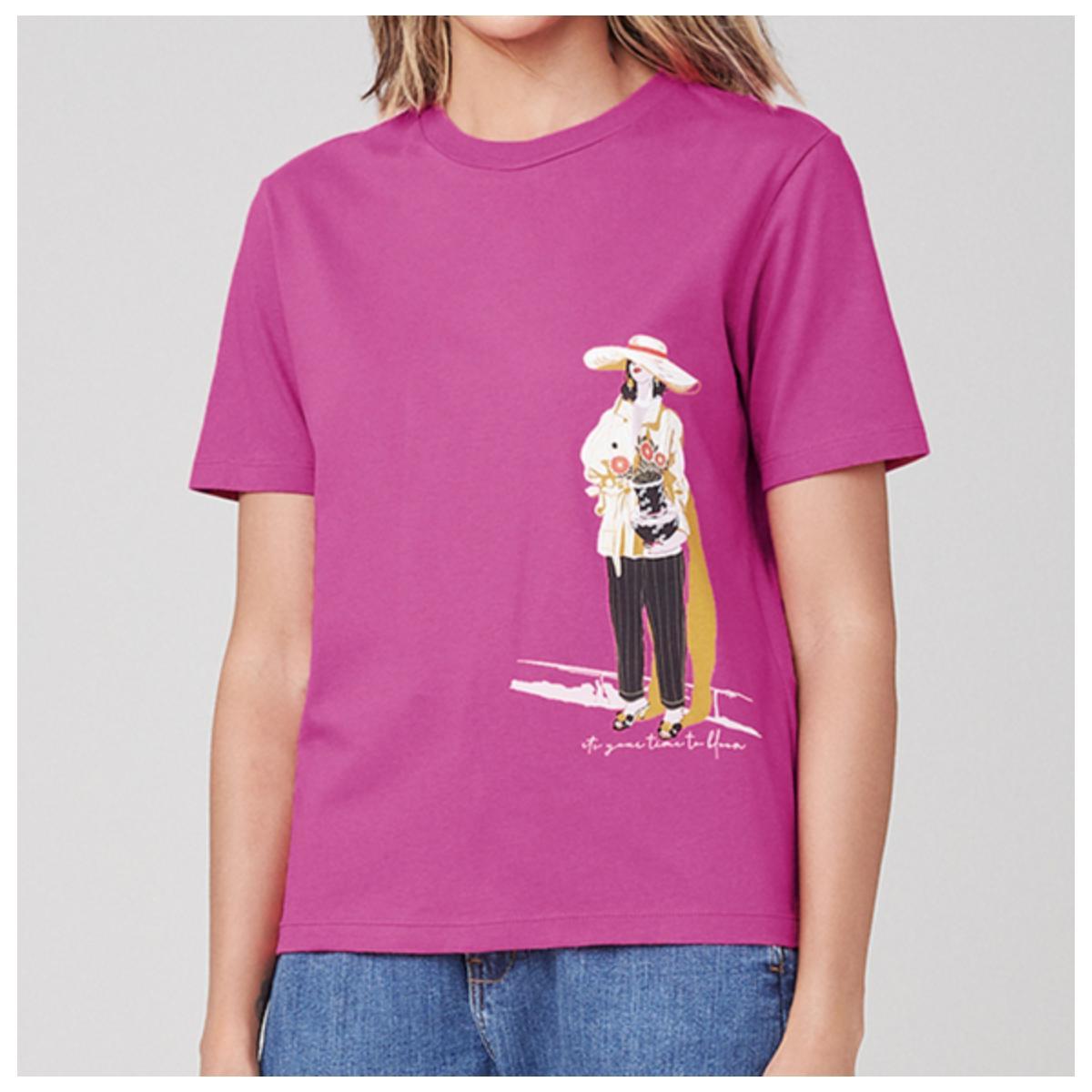 T-shirt Feminino Dzarm 6rz3 Kquen Pink