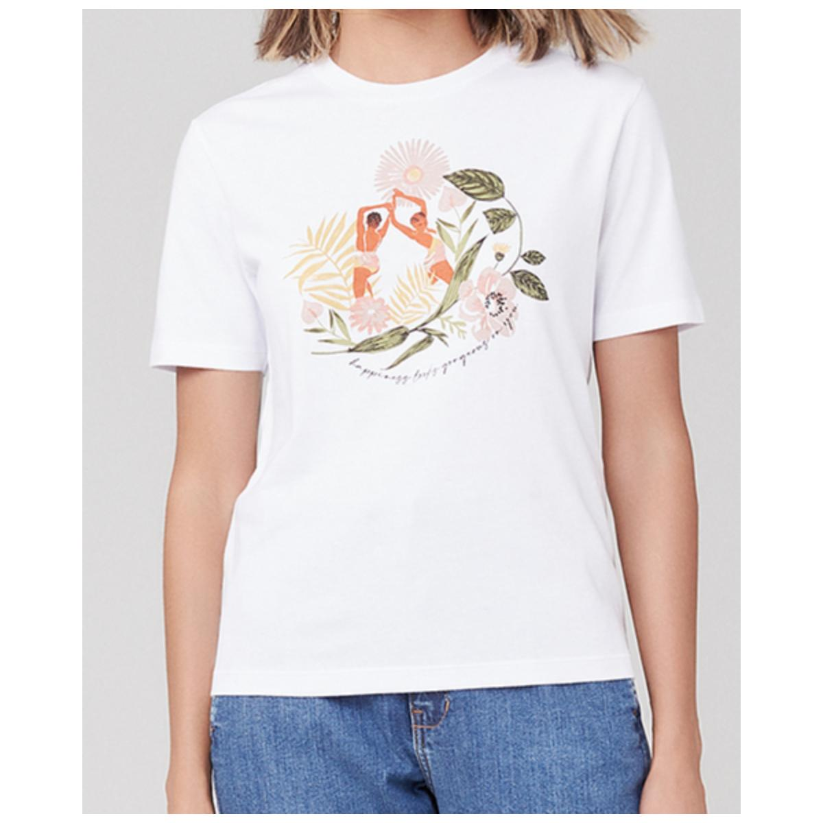 T-shirt Feminino Dzarm 6rz3 N0aen Branco