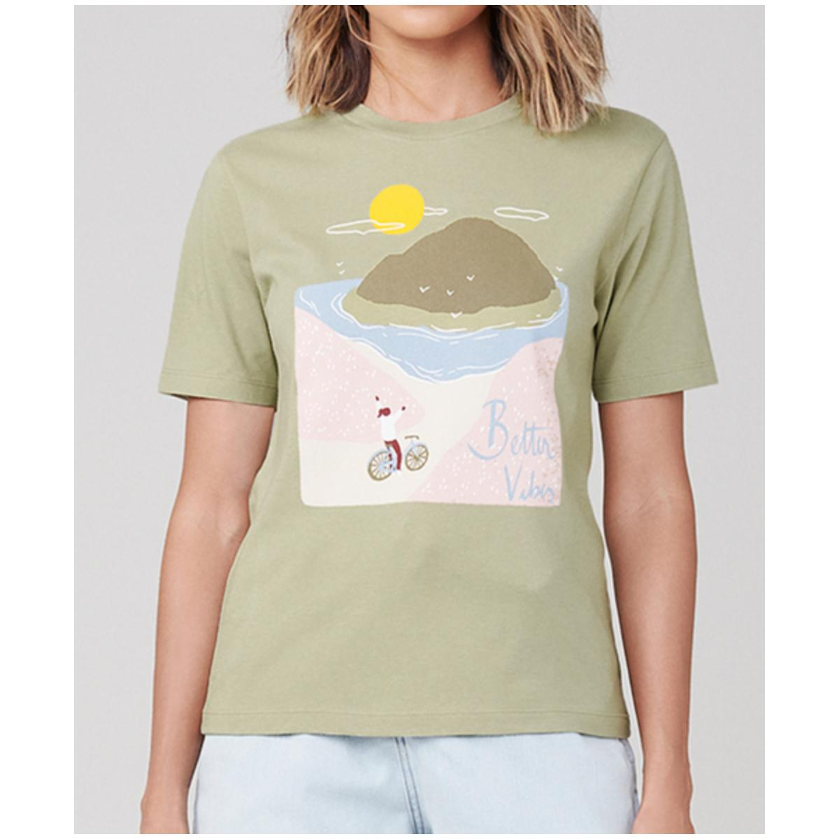 T-shirt Feminino Dzarm 6rz3 Wg6en Verde