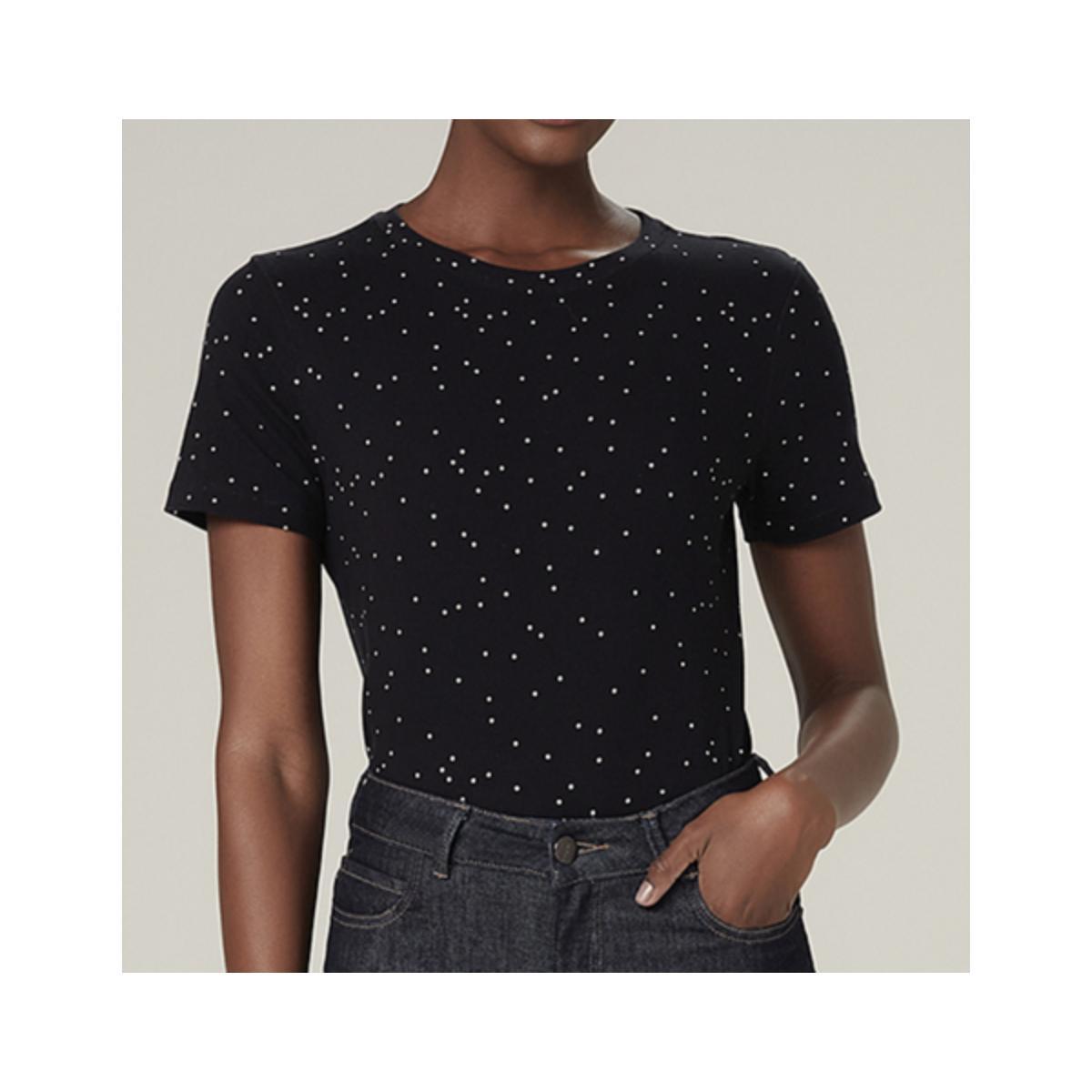 T-shirt Feminino Dzarm 6rz1 12en  Preto/branco