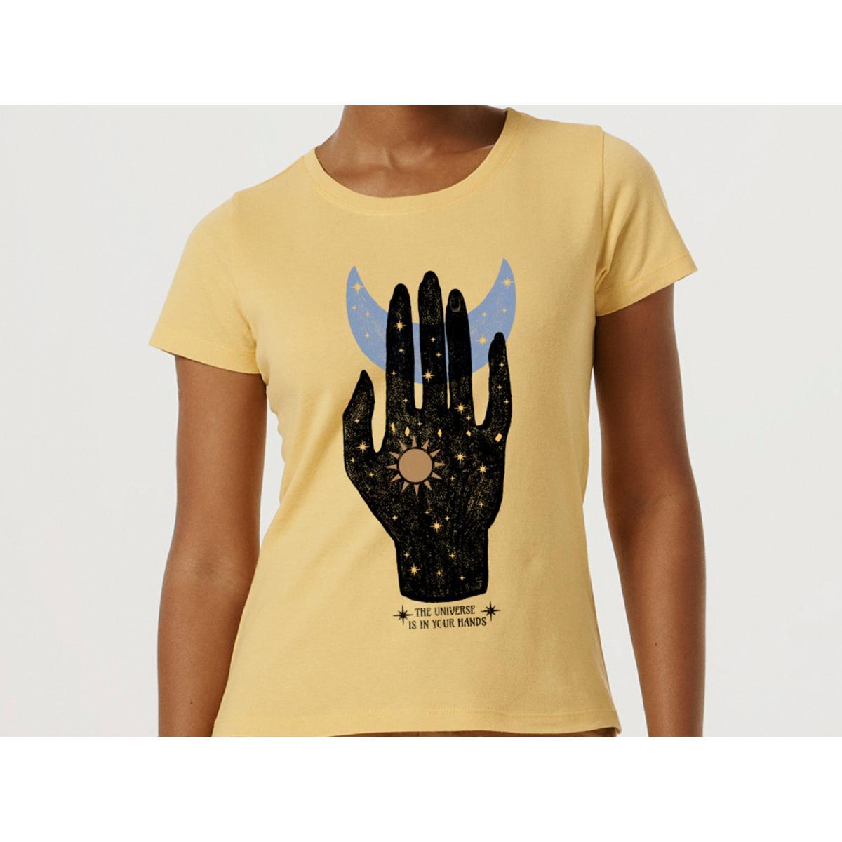 T-shirt Feminino Hering 4enk 2ken Amarelo