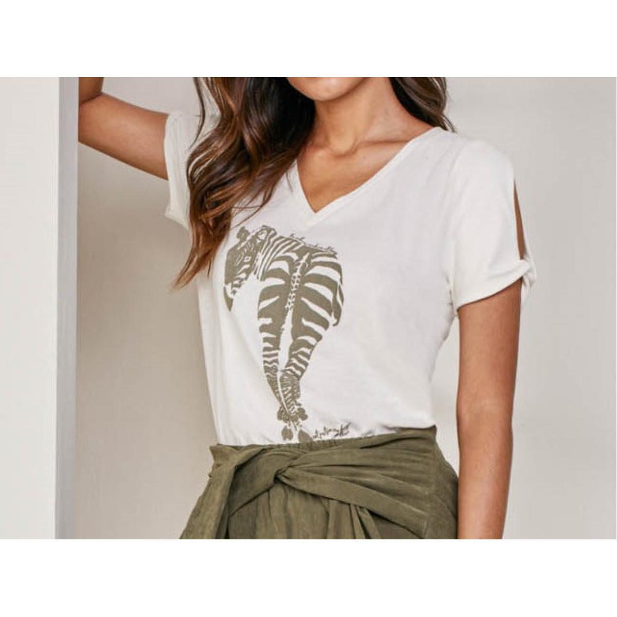 T-shirt Feminino Lado Avesso L115411 Zebra