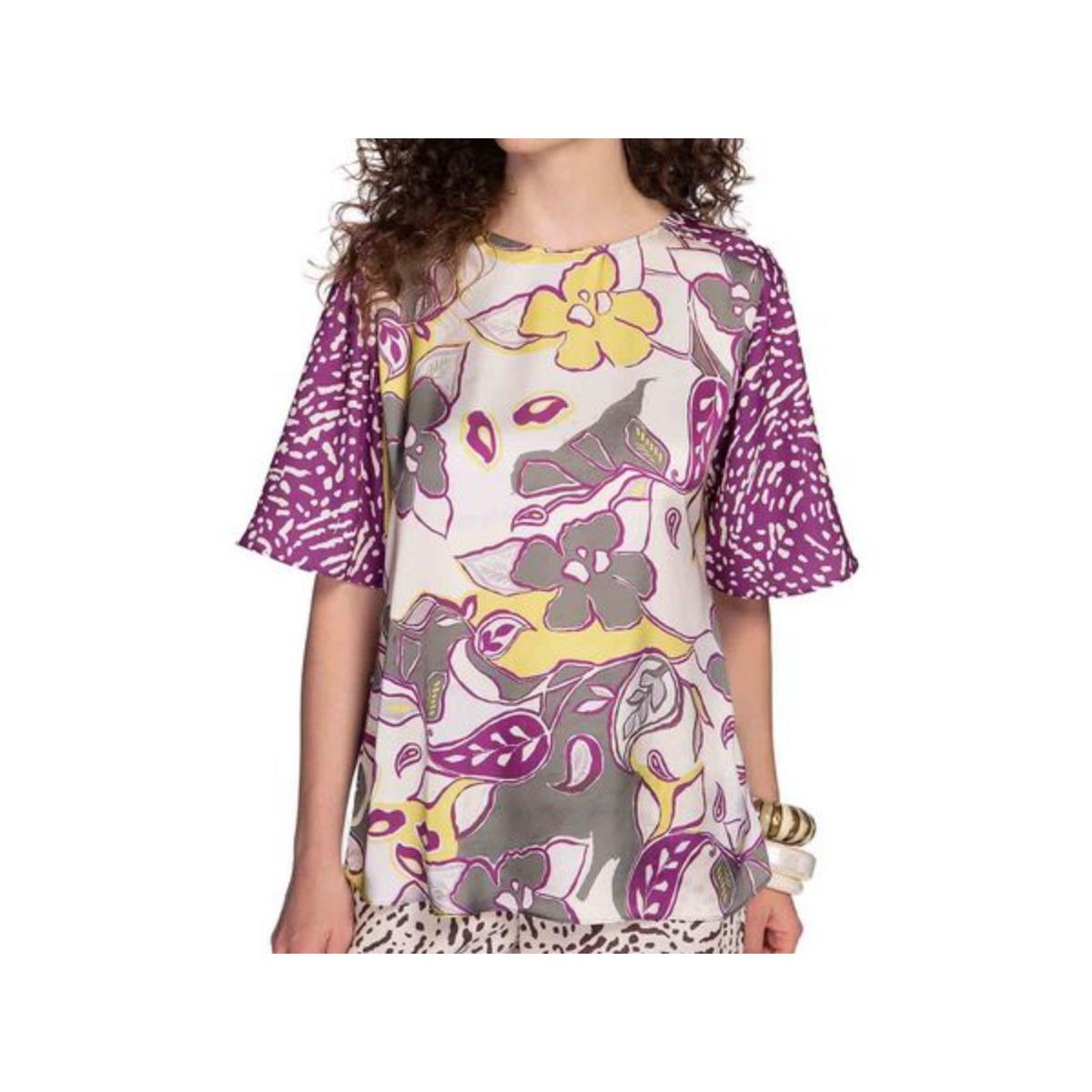 T-shirt Feminino Maria Valentina 12000106559 Roxo