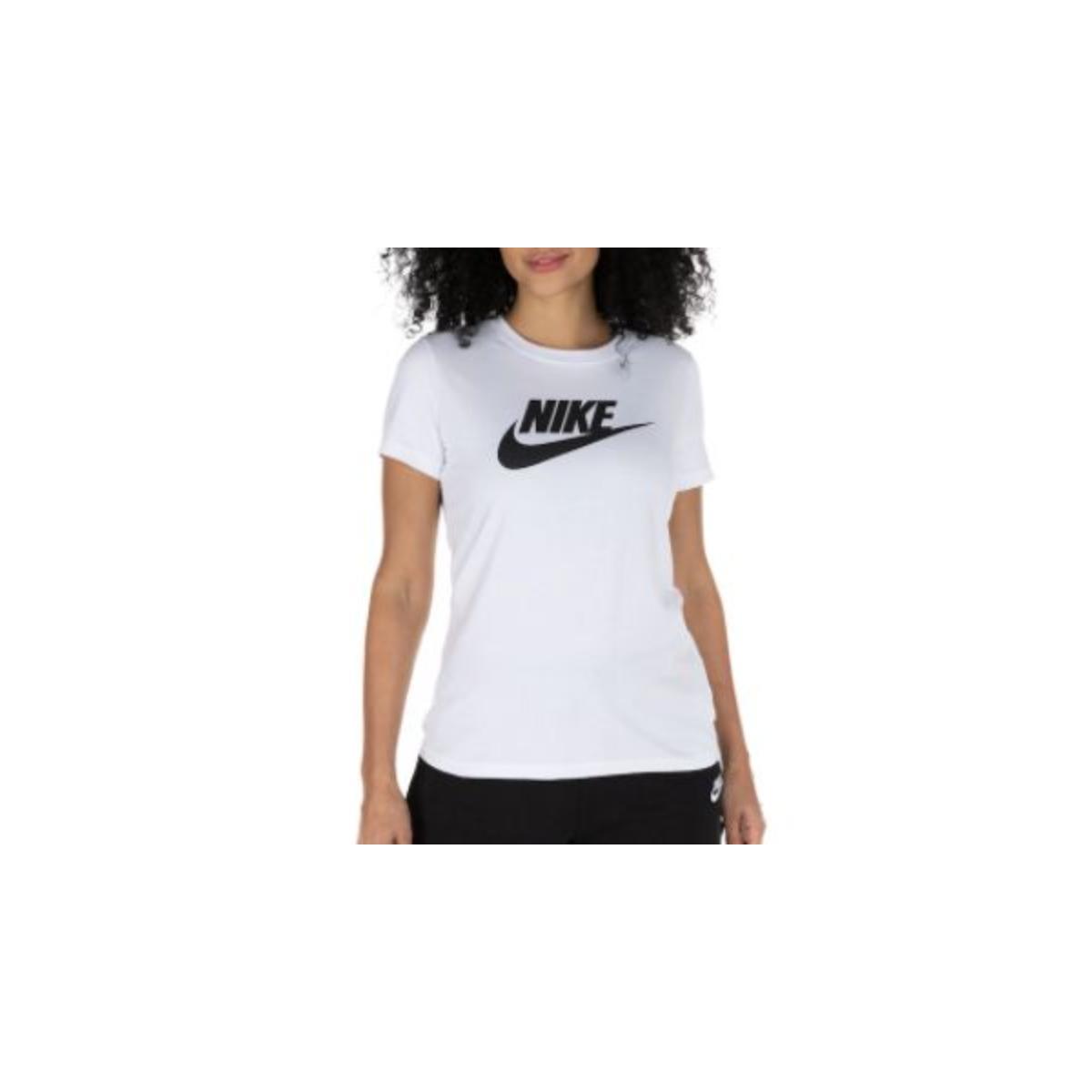 T-shirt Feminino Nike Bv6169-100 Sporwear Essential Branco/preto