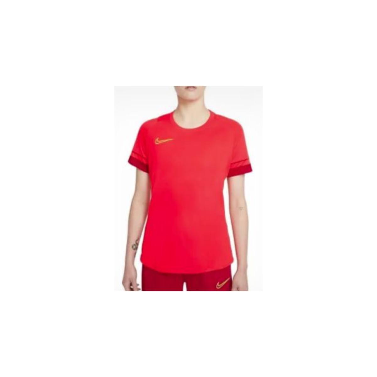 T-shirt Feminino Nike Cv2627-635 Dri-fit Academy Laranja Neon