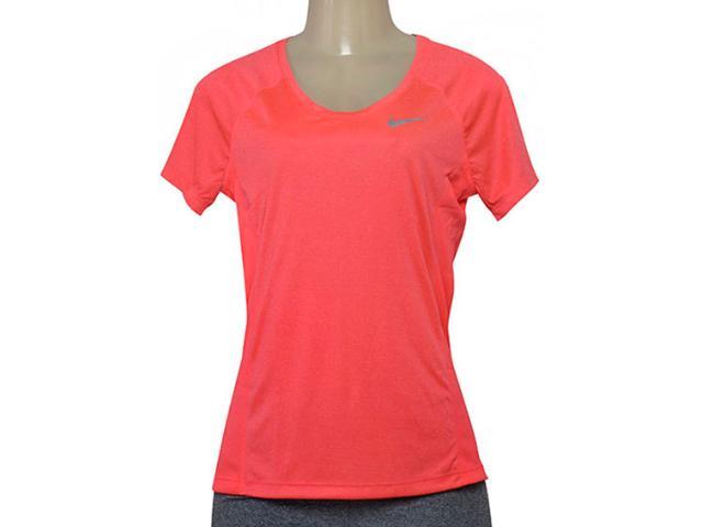 T-shirt Feminino Nike 831530-618  w nk Dry Miler Top Coral