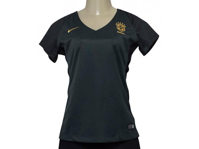 T-shirt Feminino Nike 832477-364 Cbf Brasil Iii Torcedor Verde Musgo