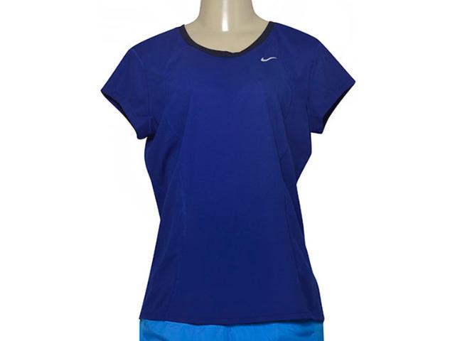 T-shirt Feminino Nike 645443-458 Racer ss  Azul Escuro