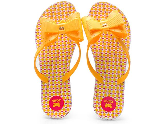 Chinelo Feminino Grendene 16656 Zaxy Fresh Amarelo