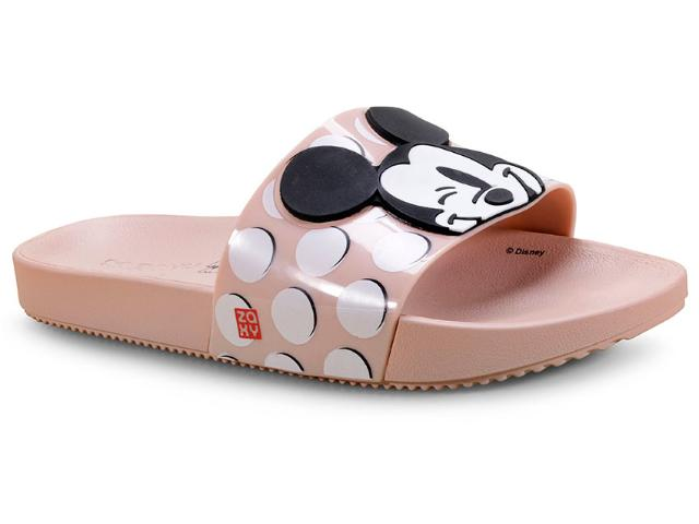 Tamanco Feminino Grendene 17977 90903 Zaxy Pop Mickey Nude Poa