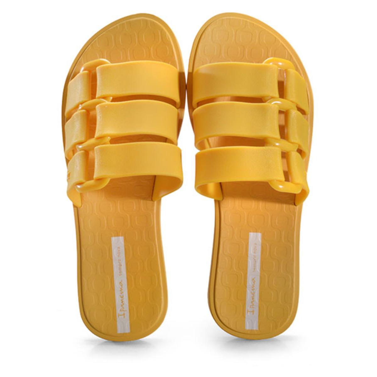 Tamanco Feminino Grendene 26519 23852 Ipanema Bold Amarelo