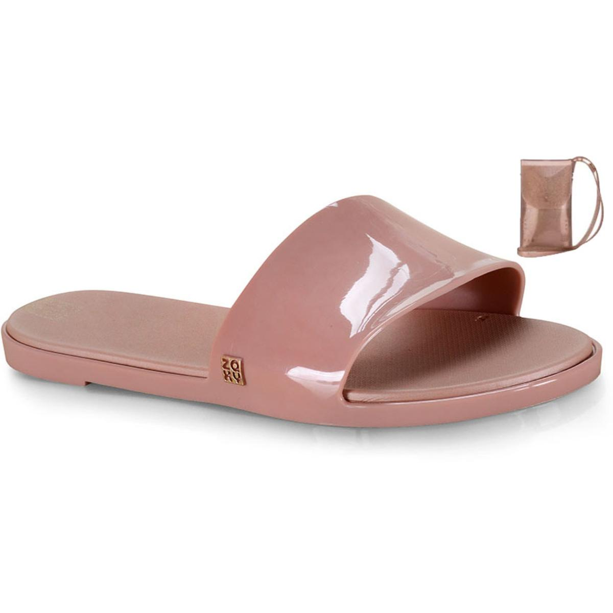 Tamanco Feminino Grendene 17996  90944 Zaxy Slide Hit+minibag Rosa Vintage