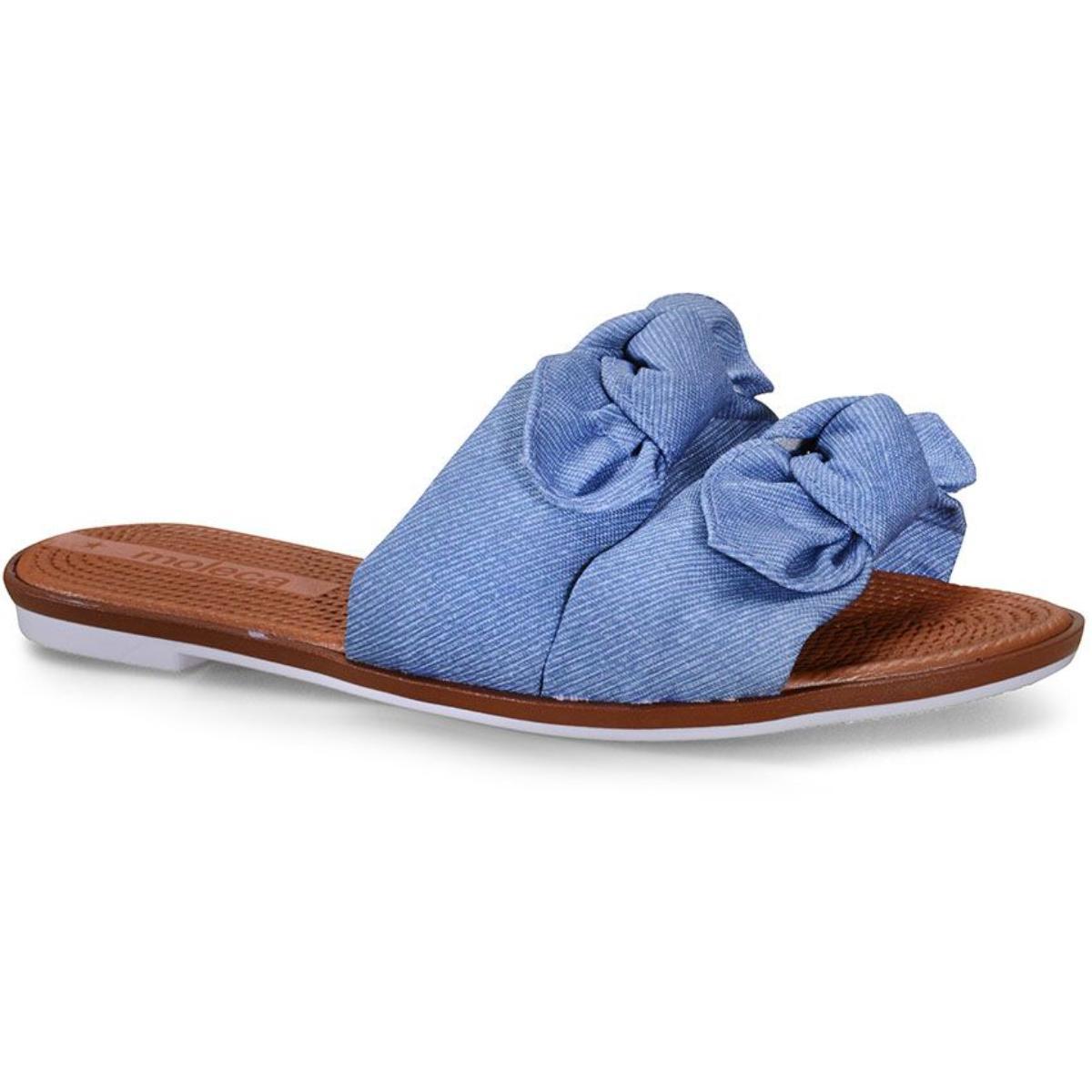 Tamanco Feminino Moleca 5297424 Jeans