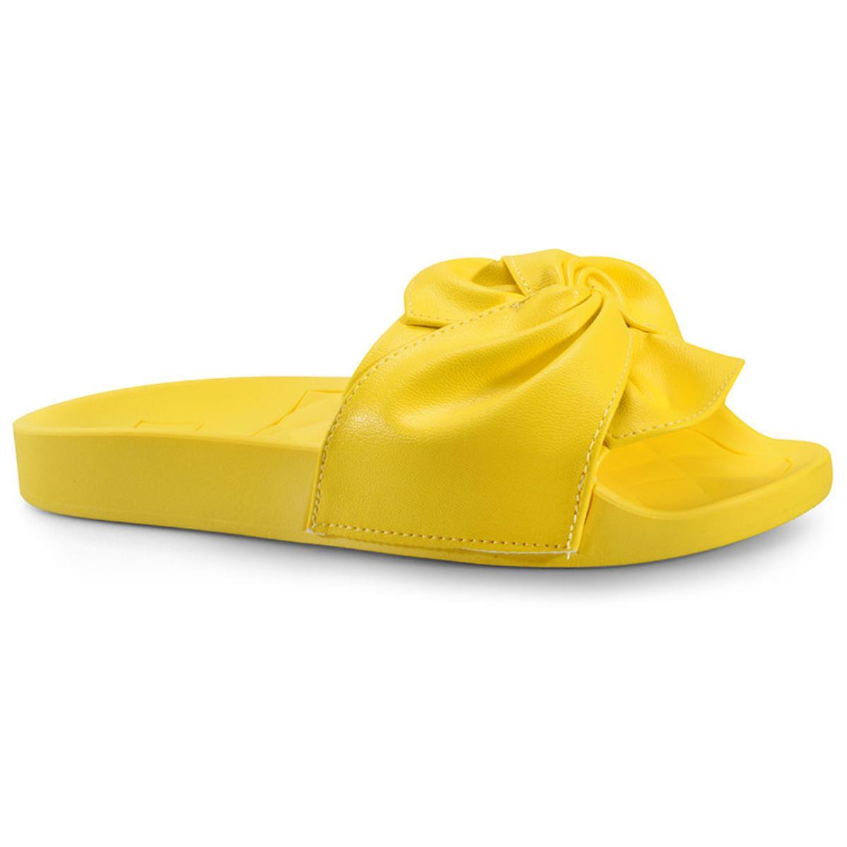 Tamanco Feminino Moleca 5414144 Amarelo