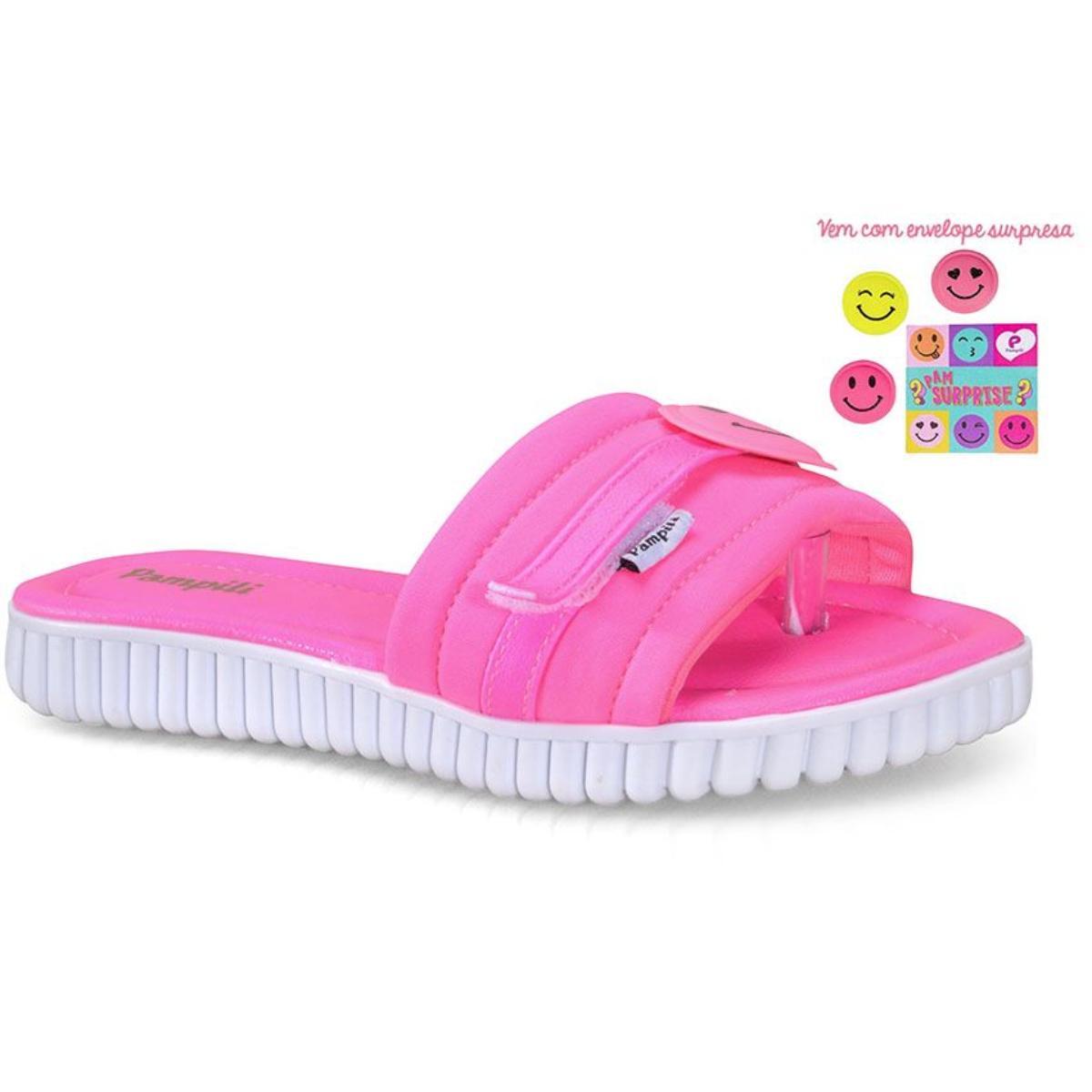 Tamanco Fem Infantil Pampili 123.153  Pink Fluor
