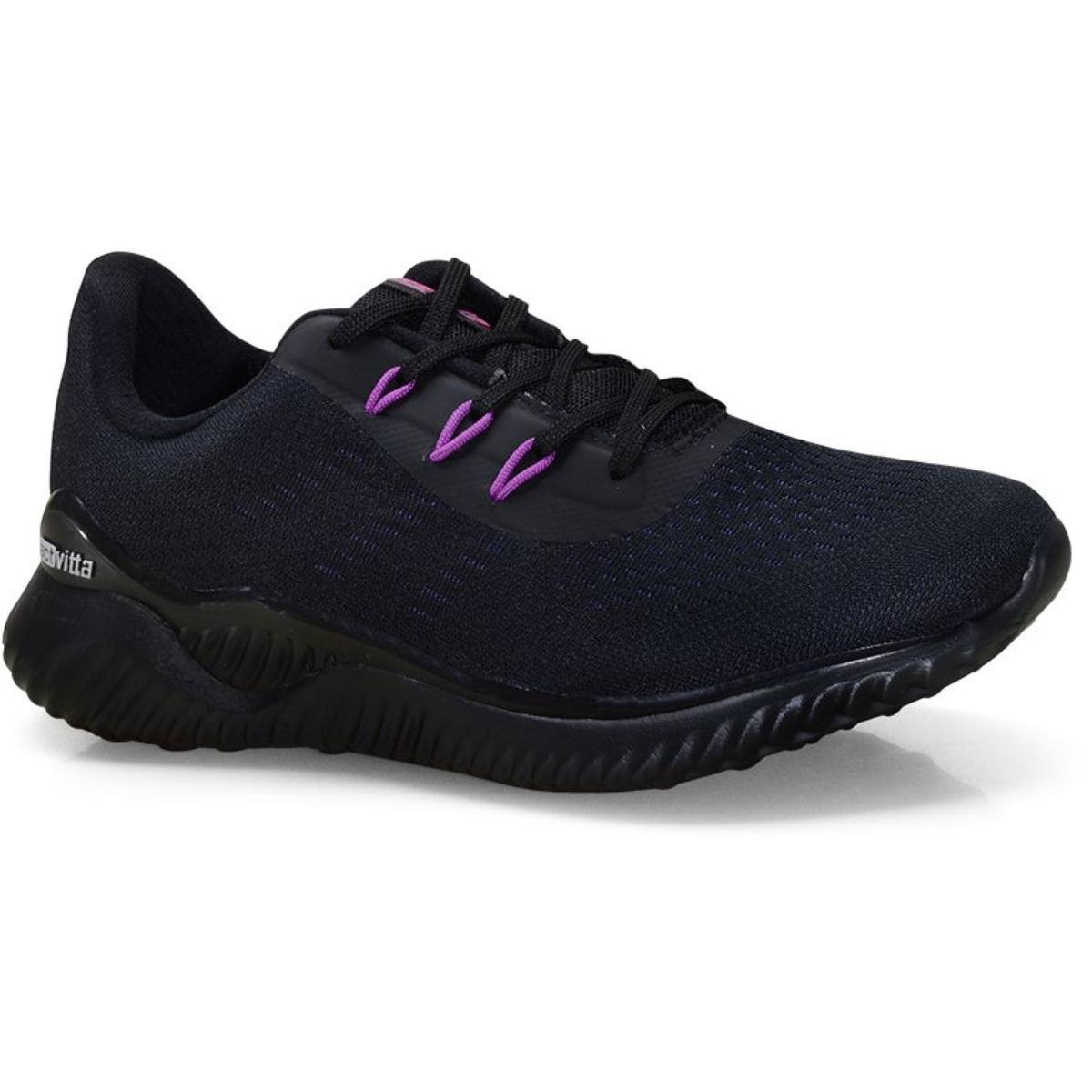 Tênis Feminino Actvitta 4802111 Preto/violeta