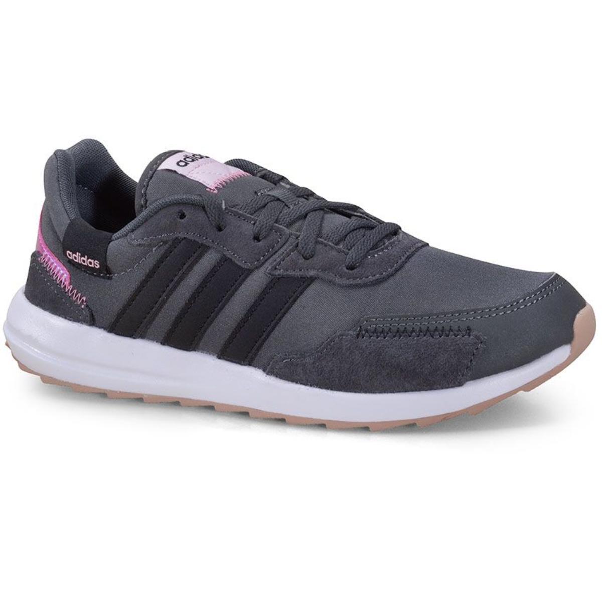 Tênis Feminino Adidas Fy8417 Retrôrun Grafite/rosa